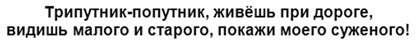 gadanija-na-podorozhnik